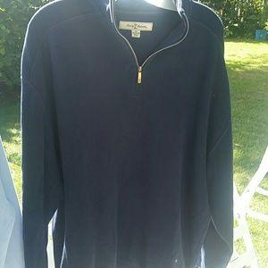 Tommy Bahama Navy Blue Sweater Sz Med